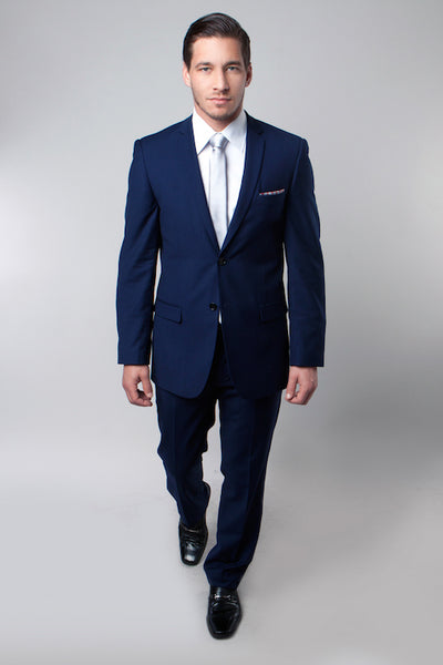 Two Button Essential Navy Blue Slim Fit Suit