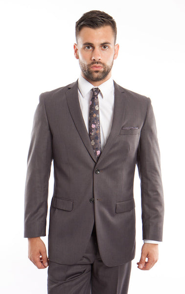 Grey Birdseye Notch Modern Fit Suit