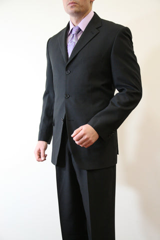 Black Formal 3 Button Modern Fit Suit