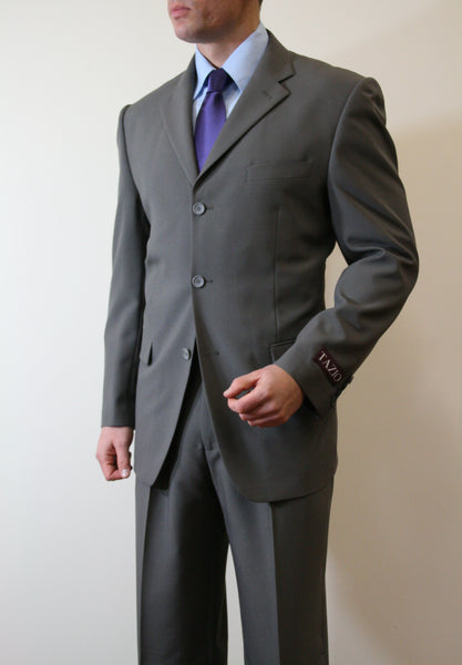 Grey Formal 3 Button Modern Fit Suit