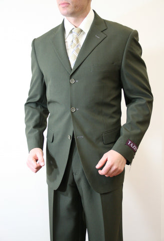 Olive Formal 3 Button Modern Fit Suit