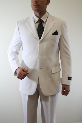 White Formal 3 Button Modern Fit Suit