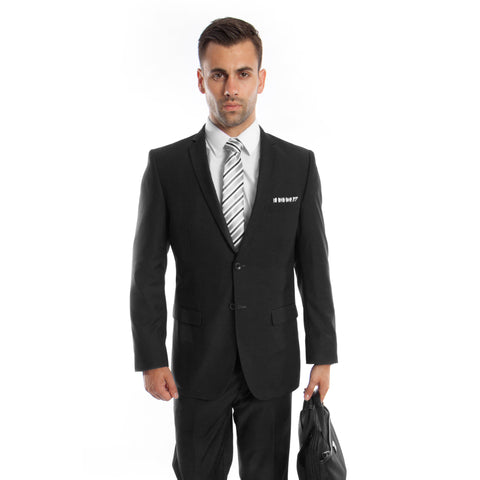 Two Button Black Slim Fit Suit