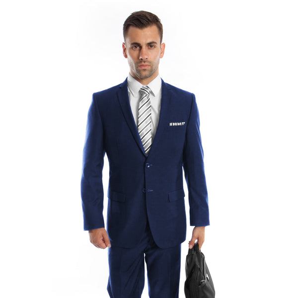 Two Button Navy Slim Fit Suit