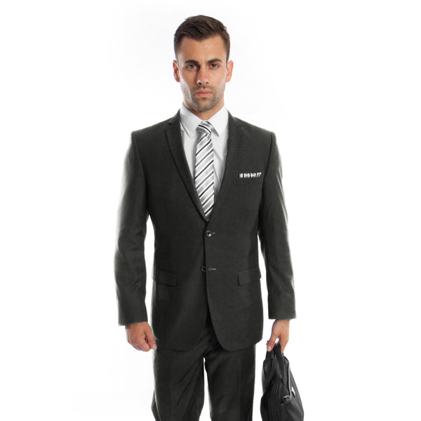 Two Button Charcoal Slim Fit Suit