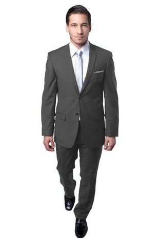 Two Button Grey Slim Fit Suit