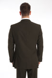 Two Button Brown Slim Fit Suit