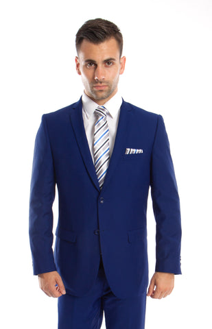 Indigo Blue 2 Button Twill Modern Fit Suit