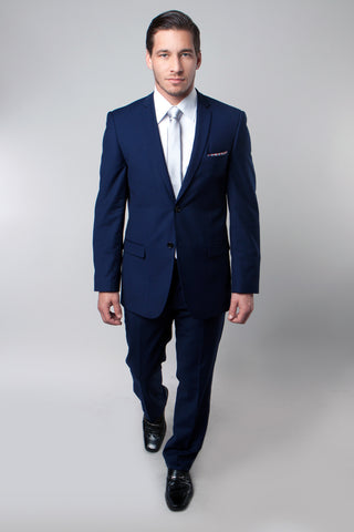 Navy Blue 2 Button Twill Modern Fit Suit