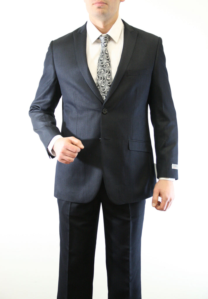 00ab50ecb2d Mens Black Shiny Sharkskin Two Button Suit-Homecoming Outfits for Guys –  Apparel99