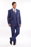Royal Blue Pinstripe Modern Fit 3 Piece Suit