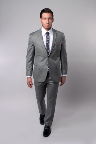 Earth Tan Slim Fit Sharkskin Suit
