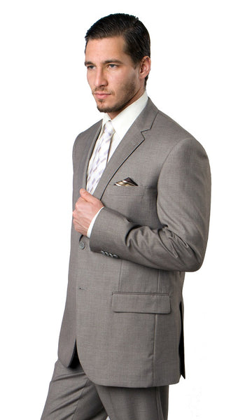 Sand 2 Button Twill Modern Fit Suit