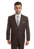 Dark Taupe 2 Button Twill Modern Fit Suit