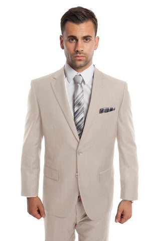 Tan 2 Button Twill Modern Fit Suit