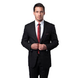 Black Tonal Plaid Peak Lapel Suit