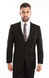 Black Birdseye Notch Modern Fit Suit