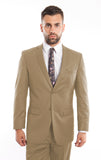 Beige Birdseye Notch Modern Fit Suit