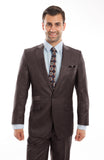 Brown Tic Two Tone 1 Button Suit
