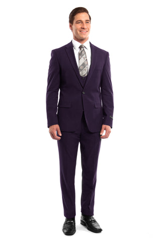 Purple 3 Piece Slim Fit Suit