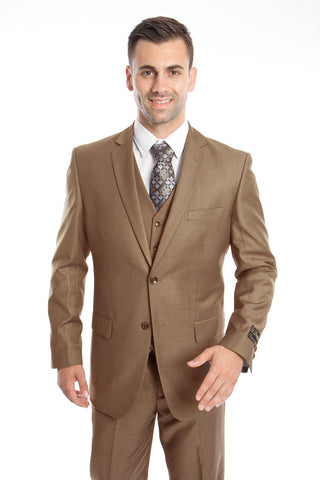 Dark Taupe Modern Fit 3-Piece Suit