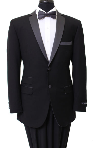 Black Tuxedo Jacket with Black Lapel