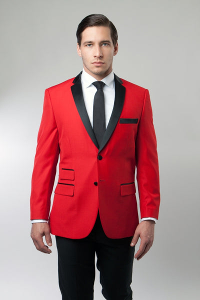 Red Tuxedo Jacket with Black Lapel