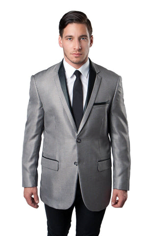 Grey Houndstooth Pattern Modern Fit Dinner Jacket