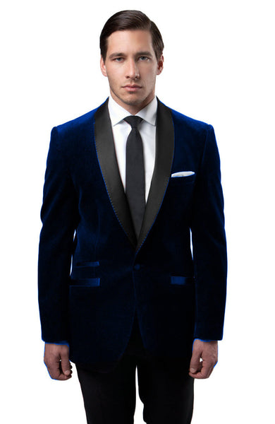 Blue velvet Slim Fit Blazer