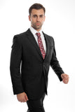 Black Wool Twill Modern Fit Suit