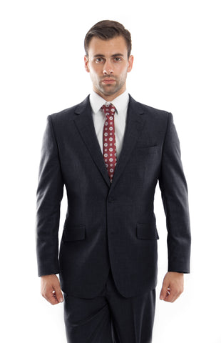 Navy Wool Twill Modern Fit Suit