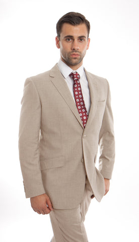 Tan Wool Twill Modern Fit Suit