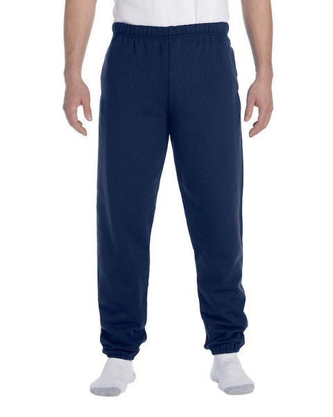 Men's Navy Fleece Stretch Sweatpants