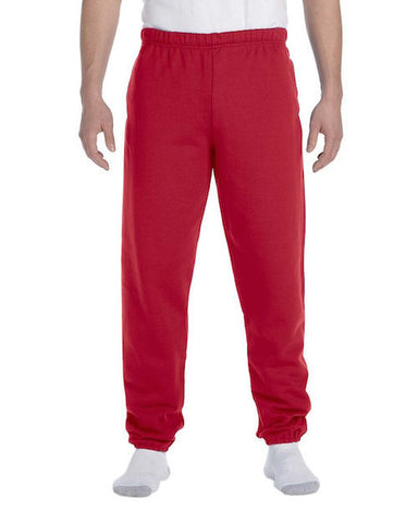 Mens Red Fleece Sweatpants