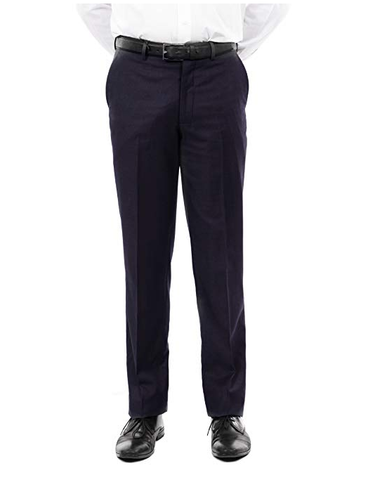 Navy Slim Fit Flat Front Dress Pants