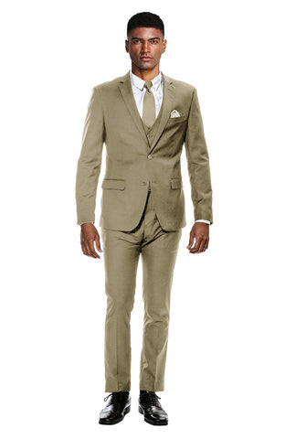 Tan Ultra Slim Fit 3-Piece Prom Suit