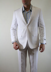 Two Button White Slim Fit Suit