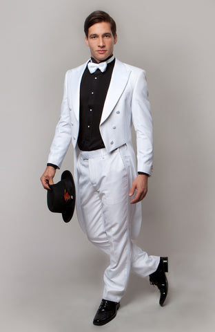 White Slim Fit TailCoat Tuxedo