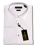 White Cotton French Cuff Wing Tip Tuxedo Shirt