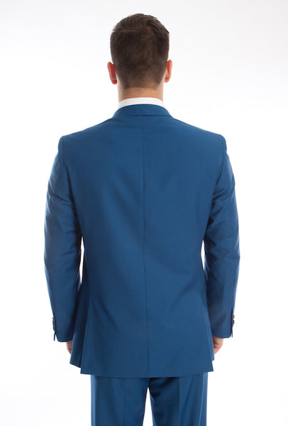 Two Button Indigo Blue Slim Fit Suit