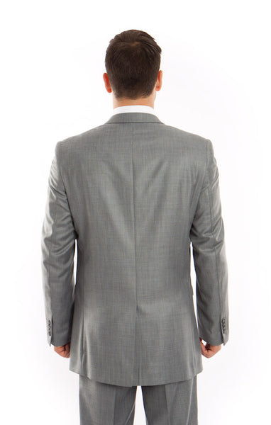 Shark Grey Slim Fit Sharkskin Suit