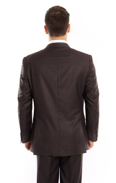 back of dark grey 1 button suit