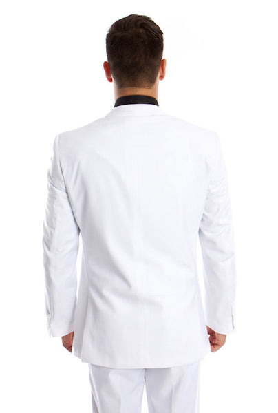 White 3 Piece  Slim Fit Vested Suit