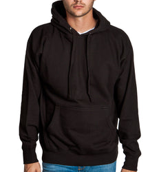 Men's Black Fleece Pullover Hoodie