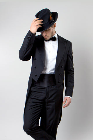 Black Slim Fit TailCoat Tuxedo