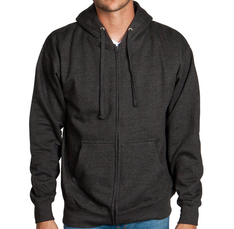 Charcoal Zip Up Hoodie Sweatshirt