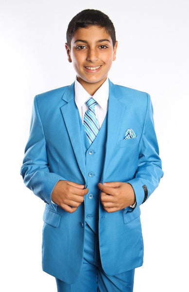 Boys French Blue 5-PC Suit Set