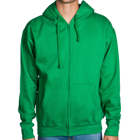 Green Zip Up Hoodie Sweatshirt
