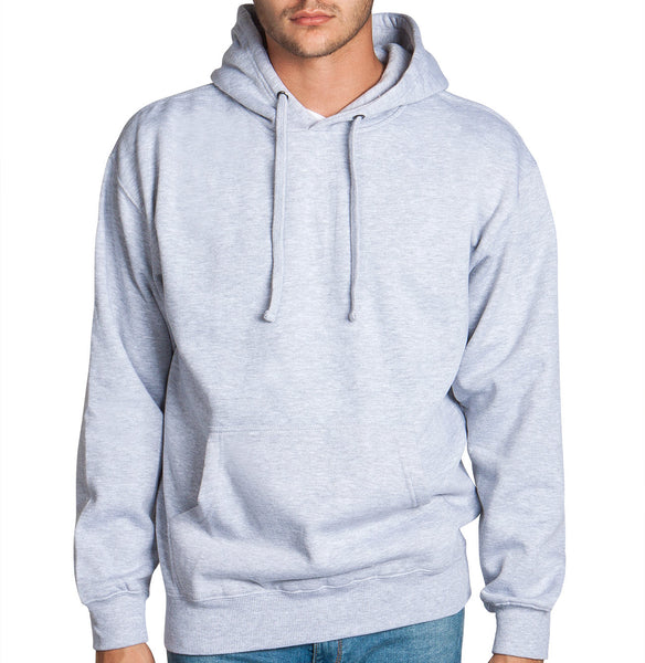 Heather Grey Fleece Pullover Hoodie