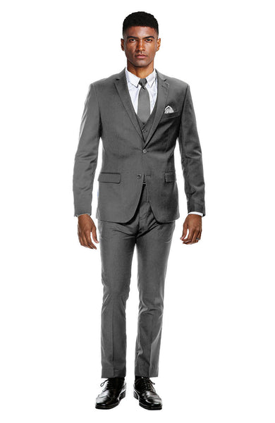 Gray Ultra Slim Fit 3-Piece Prom Suit